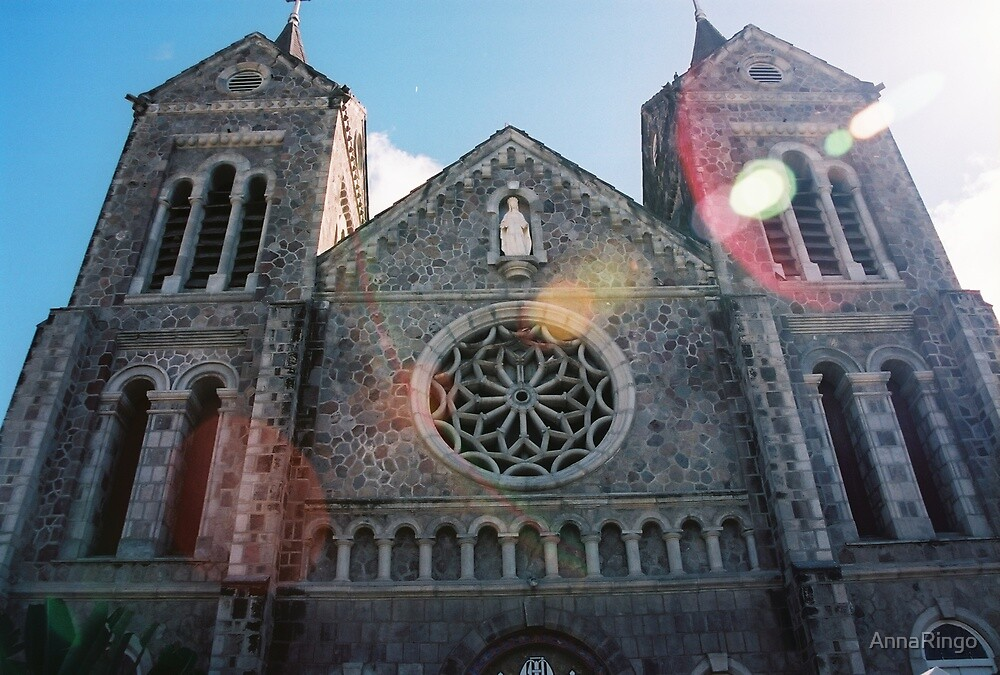 A magnificent church on St. Kitts in the virgin Islands by AnnaRingo