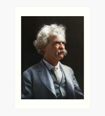 Colorized  - Mark Twain / Samuel L Clemens Art Print