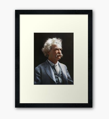 Colorized  - Mark Twain / Samuel L Clemens Framed Print