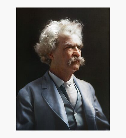Colorized  - Mark Twain / Samuel L Clemens Photographic Print