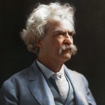 Colorized  - Mark Twain / Samuel L Clemens with signature by SannaDullaway