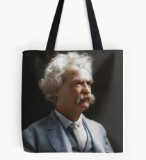 Colorized  - Mark Twain / Samuel L Clemens with signature Tote Bag