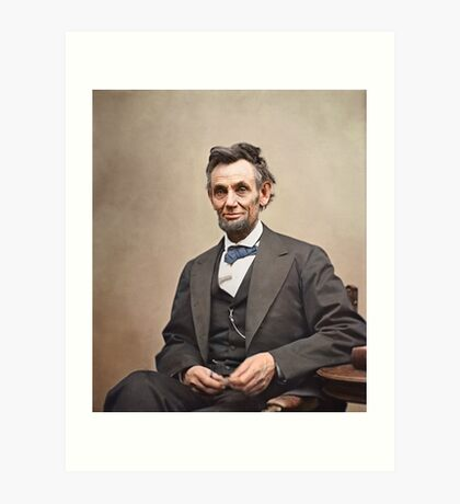 Colorized  - Abraham Lincoln Art Print