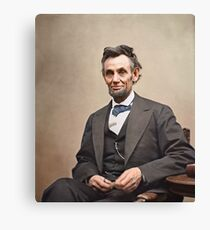 Colorized  - Abraham Lincoln Canvas Print