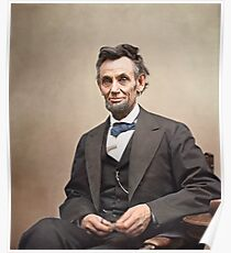 Colorized  - Abraham Lincoln Poster