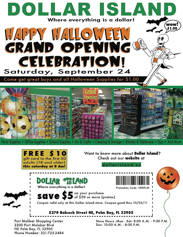 Dollar Island Store Flyer by edwin rivera