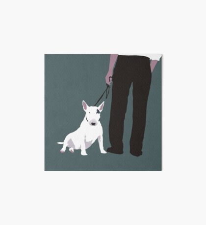 Bull terrier Art Board