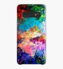 WELCOME TO UTOPIA Bold Rainbow Multicolor Abstract Painting Forest Nature Whimsical Fantasy Fine Art Case/Skin for Samsung Galaxy