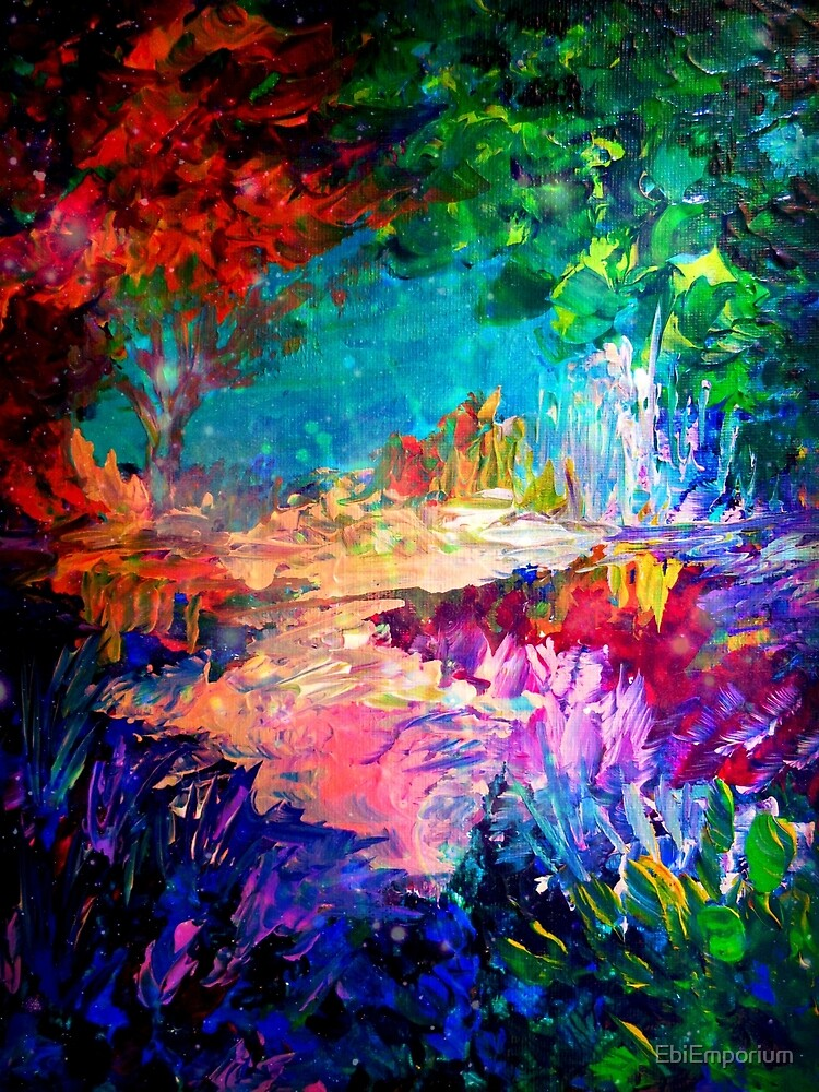 Welcome To Utopia Bold Rainbow Multicolor Abstract Painting