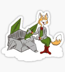 Starfox In Socks. Sticker