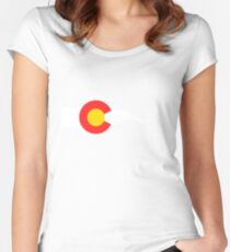 Colorado Flag Cyclist Women's Fitted Scoop T-Shirt