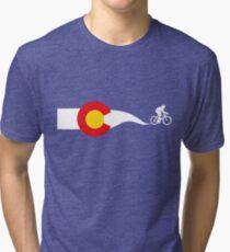 Colorado Flag Cyclist Tri-blend T-Shirt