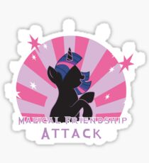 Magical Friendship Attack. Sticker