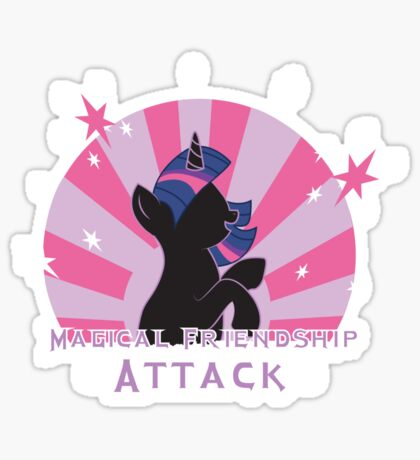 Magical Friendship Attack. Sticker