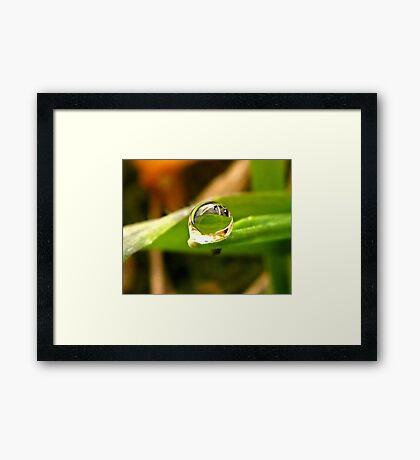 A Drop For YOU Dedicated to My Love, My Husband~ Framed Print