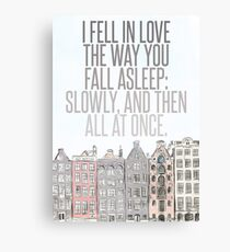 The Way You Fall Asleep Canvas Print