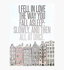 The Way You Fall Asleep Photographic Print