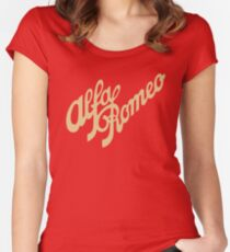 Alfa Romeo script in GOLD Women's Fitted Scoop T-Shirt