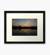 Mirror in the Lake Framed Print