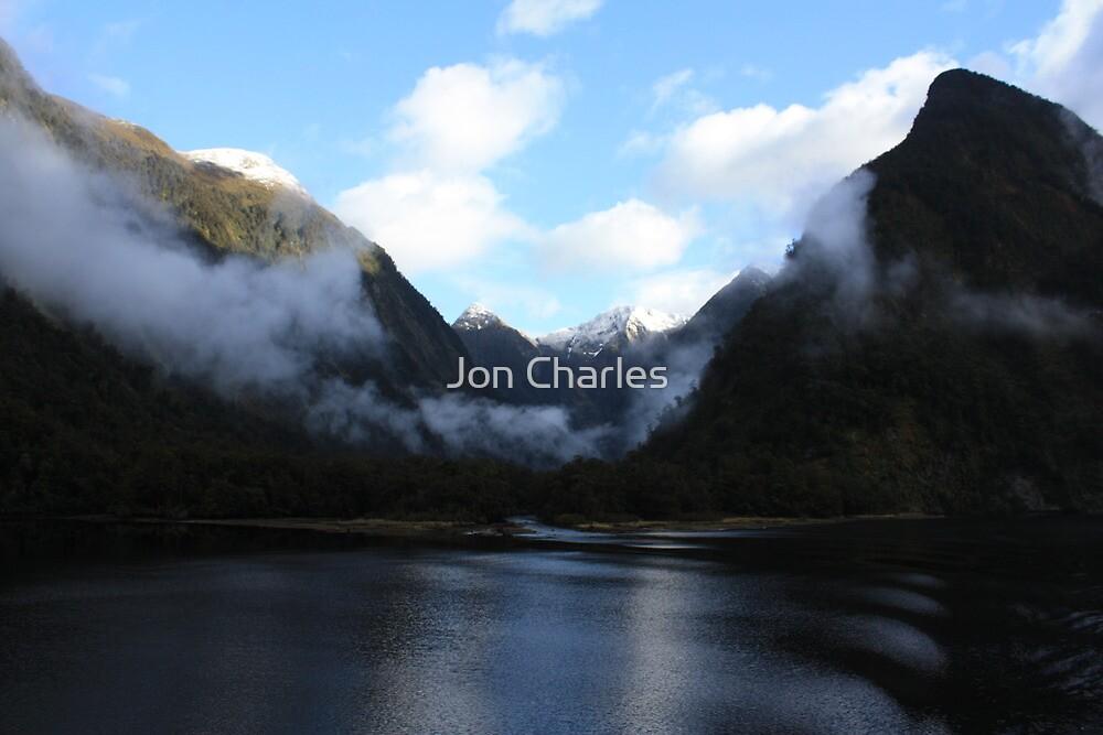 Fiordland Morning Mists by Jon Charles