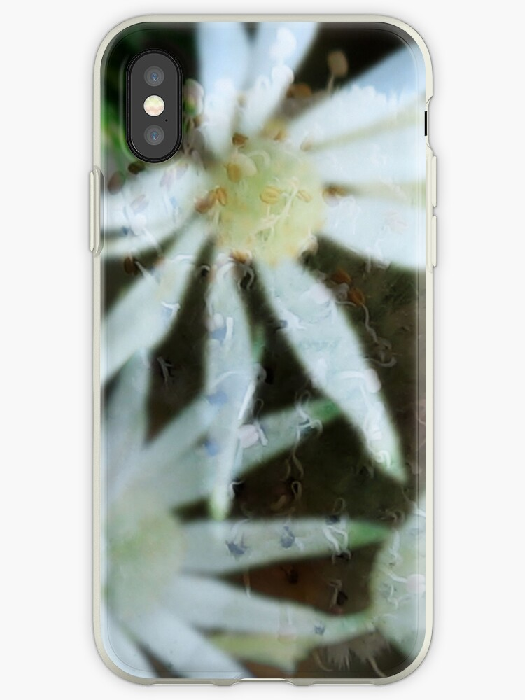 flannel flower iphone case by janetJ