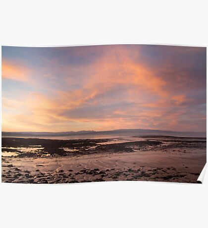Sunset at the Severn Estuary Poster