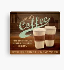 Castle's Coffee T-Shirt Canvas Print