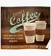 Castle's Coffee T-Shirt Poster