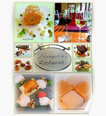 Gourmet Food Collage Poster