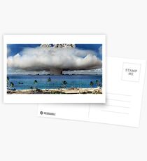 Colorized Operation Crossroads Baker, Bikini Atoll,1946 Postcards