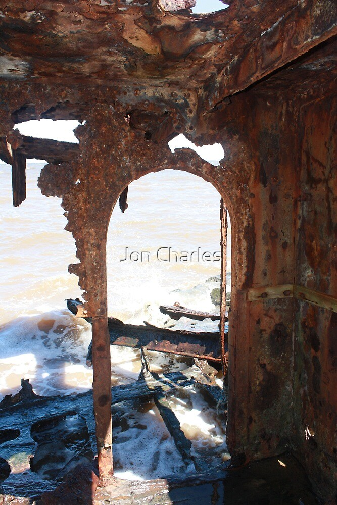 Sea door to the past by Jon Charles