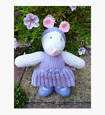 Hand Knitted Girl Mouse Photographic Print