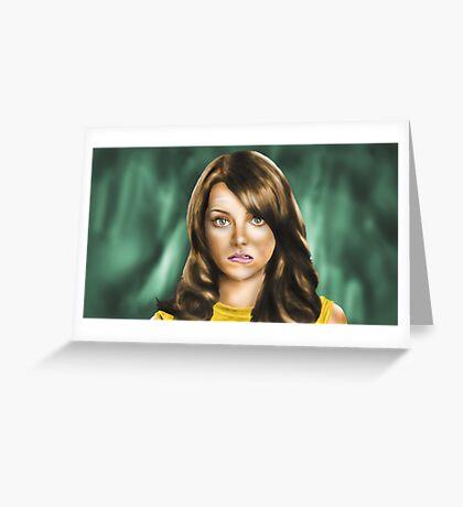 Emma Stone Greeting Card