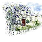 Wisteria Cottage by Muriel Sluce by Wendy Dyer