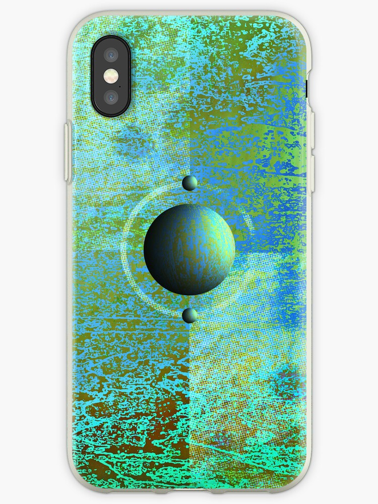 iPhone case-pattern with sphere by Terry Worsley