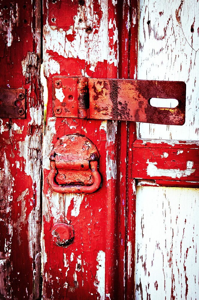 Aged Red Door by jenseye