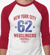 New York City Webslingers Baseball Men's Baseball ¾ T-Shirt