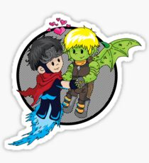 Wiccan and Hulkling Sticker