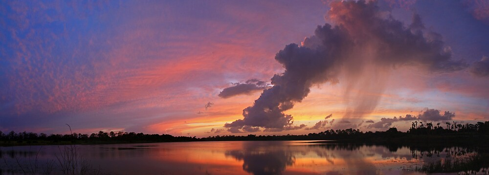 shower sunset pano by cliffordc1