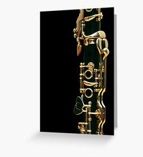 Clarinet Greeting Card