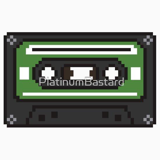 """""""8 Bit Old School Cassette Tape"""" Stickers By"""