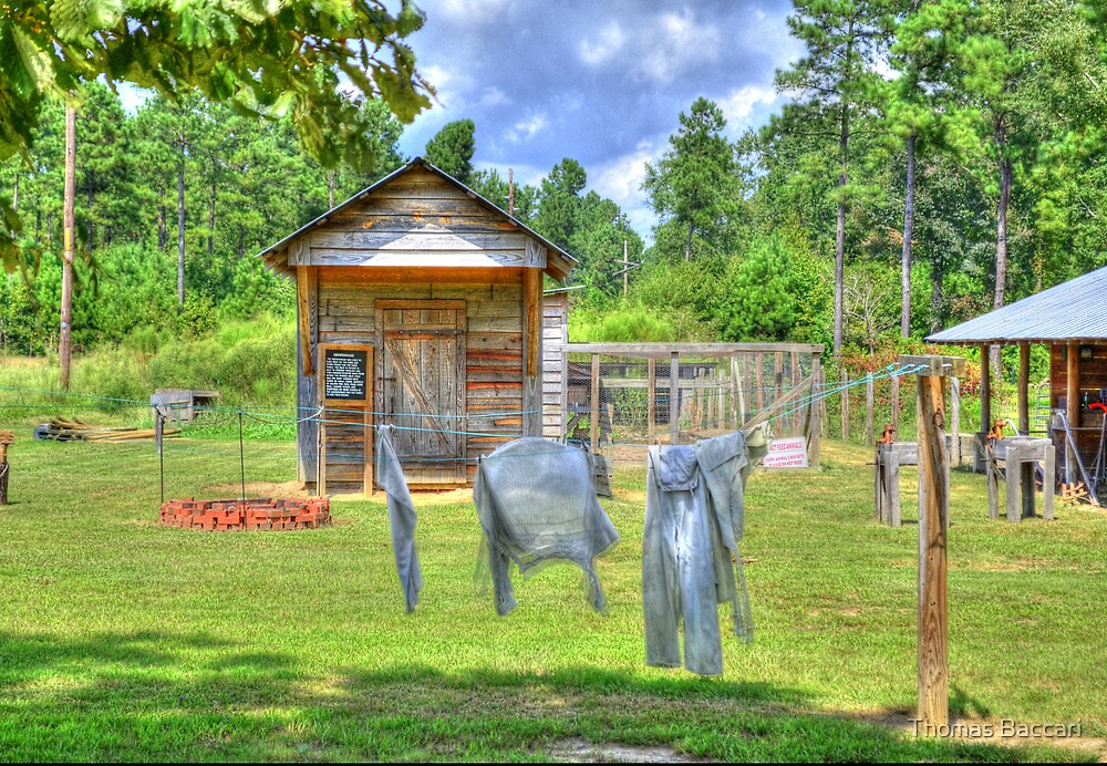 The Olden Days - Hanging Your Clothes out to Dry by TJ Baccari Photography