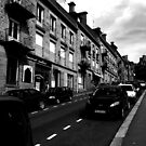Black and White Street in Fourges by JoeJoeT