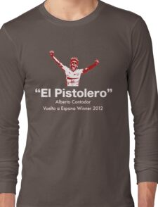 Alberto Contador Vuelta Winner 2012 Long Sleeve T-Shirt