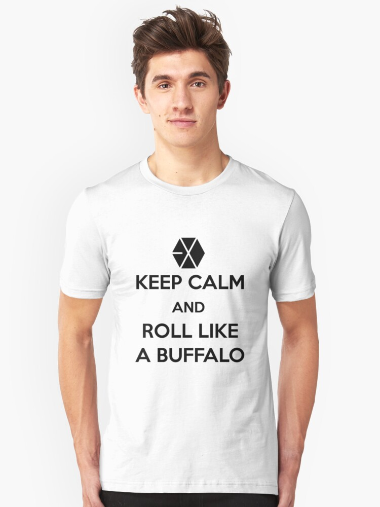 Roll like a buffalo Unisex T-Shirt Front