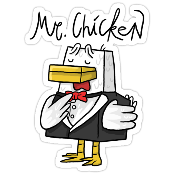 Quot Mr Chicken Basic Quot Stickers By Chimneyswift11 Redbubble