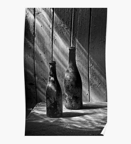 Old Wine Bottles Poster