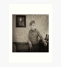 Waiting for Father to return Art Print