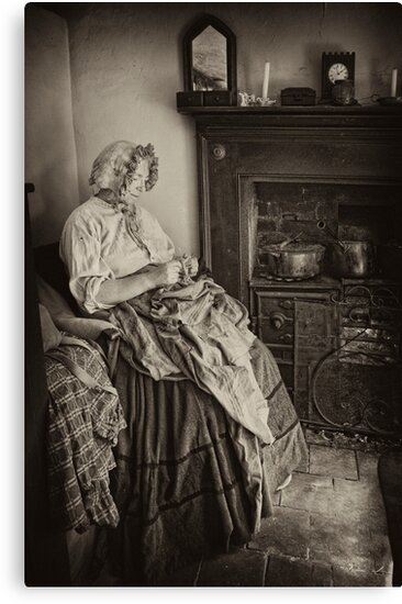 Darning by the fire by Patricia Jacobs DPAGB LRPS BPE4