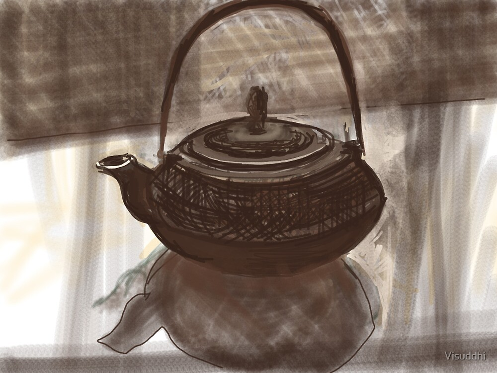 Metal Teapot by Visuddhi